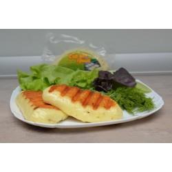 Халуми. Сыр для гриля и жарки с базиликом