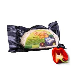 Халуми. Сыр для гриля и жарки с паприкой . Упаковка