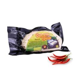 Халуми. Сыр для гриля и жарки с острым перцем . Упаковка