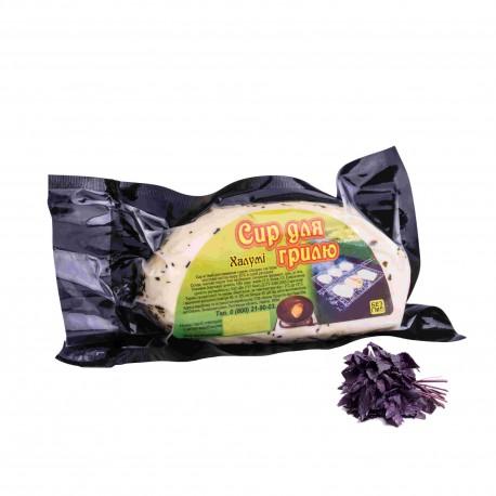 Халуми. Сыр для гриля и жарки с базиликом . Упаковка